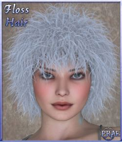 Prae-Floss Hair For V4 Poser