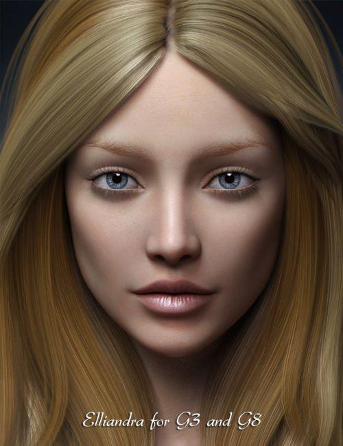Elliandra for Genesis 3 and 8 Female