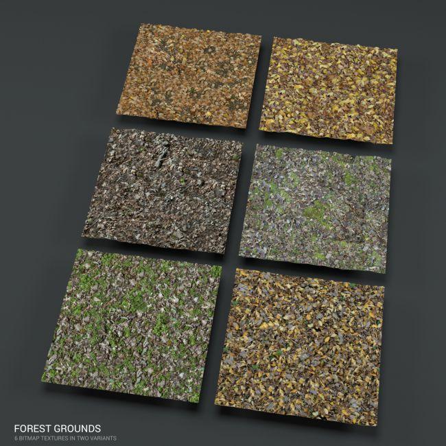 Forest ground PBR textures