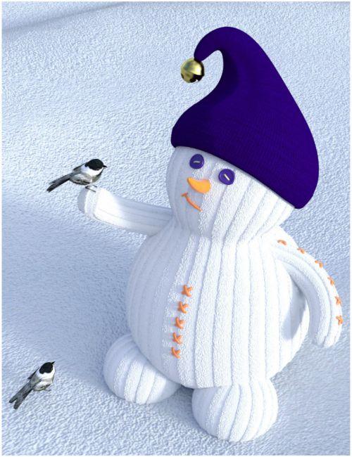 Spring Thaw Snowman Prop Set