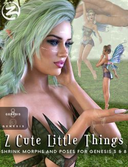 Z Cute Little Things - Shrink Morphs and Poses for Genesis 3 and 8