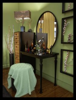 ES Sienna Beauty Tools and Accessories for Vanity Room