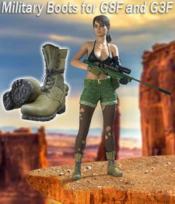 Slide3D Military Boots for G8F and G3F