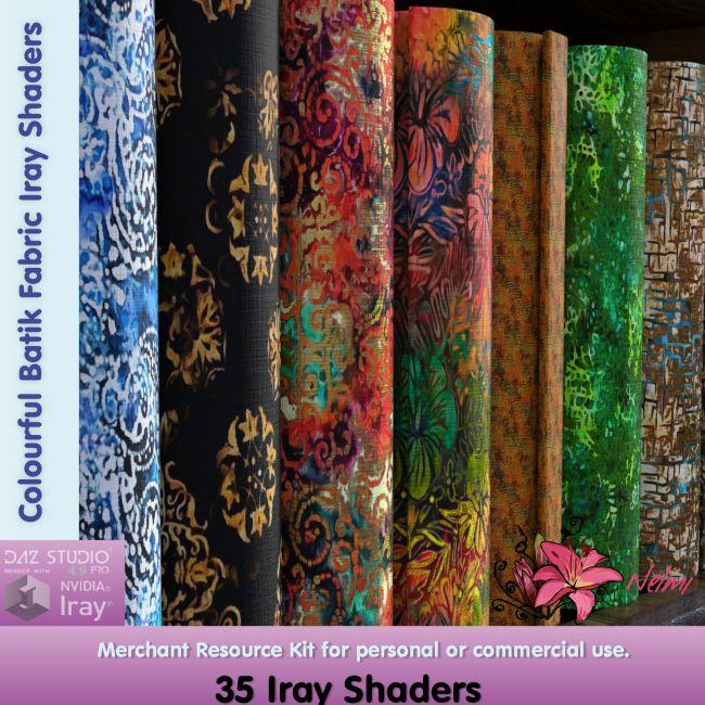 Colourful Batik Fabric Iray Shaders - Merchant Resource