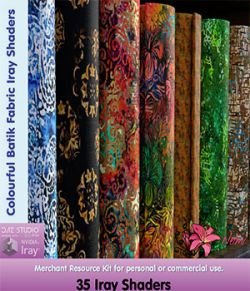 Colourful Batik Fabric Iray Shaders - Merchant Resource