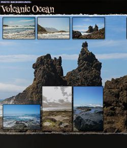 Photo Backgrounds: Volcanic Ocean
