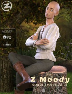 Z Moody- Poses and Expressions for Genesis 8 Male and Ollie 8