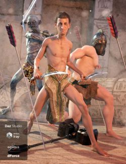 dForce Loincloth Collection for Genesis 8 Male(s)