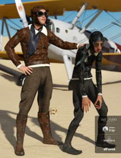 dForce Retro Aviator Outfit Textures