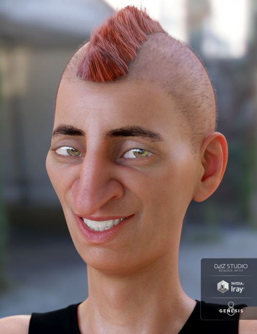 Short Mohawk Hair for Genesis 3 and 8 Male(s)