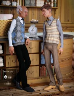 Sweater Vest Outfit Textures