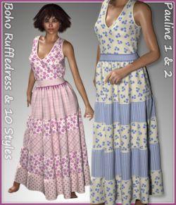 Pauline Boho Ruffledress and 10 styles