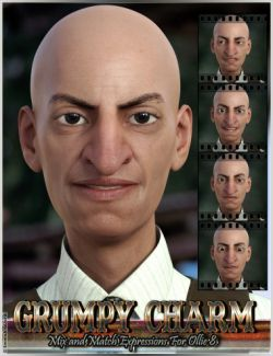 Grumpy Charm Mix and Match Expressions for Ollie 8 and Genesis 8 Male
