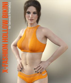 X-Fashion Hollow Bikini for Genesis 8 Females