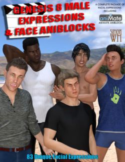Genesis 8 Male(s) Expressions & Face aniBlocks