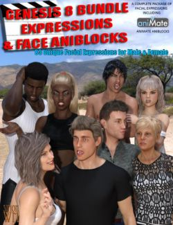 Genesis 8 Bundle Expressions & Face aniBlocks
