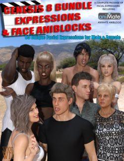 Genesis 8 Bundle Expressions & Face aniBlocks