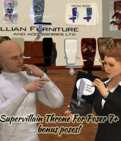 Supervillain Throne for Poser