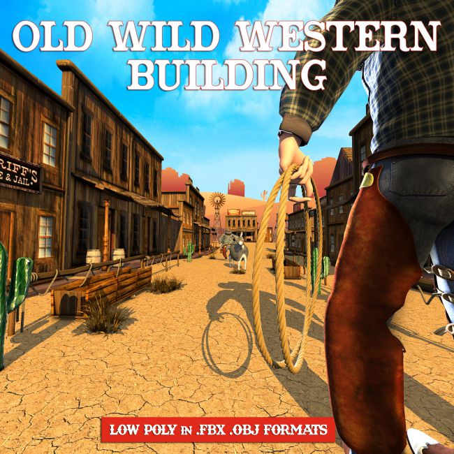 Old Wild West Building - Extended License