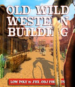 Old Wild West Building- Extended License