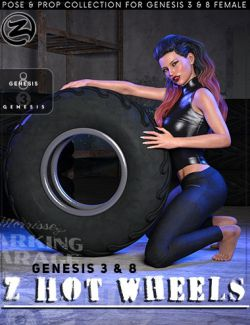 Z Hot Wheels - Props and Poses for Genesis 3 and 8 Female