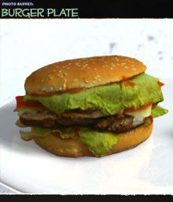 Photo Buffet: Burger Plate