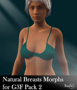 Natural Breasts Morph for Genesis 3 Female Pack 2