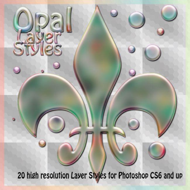 Opal Photoshop Styles