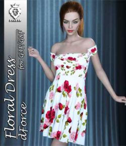 JMR dForce Floral Dress for G3F and G8F
