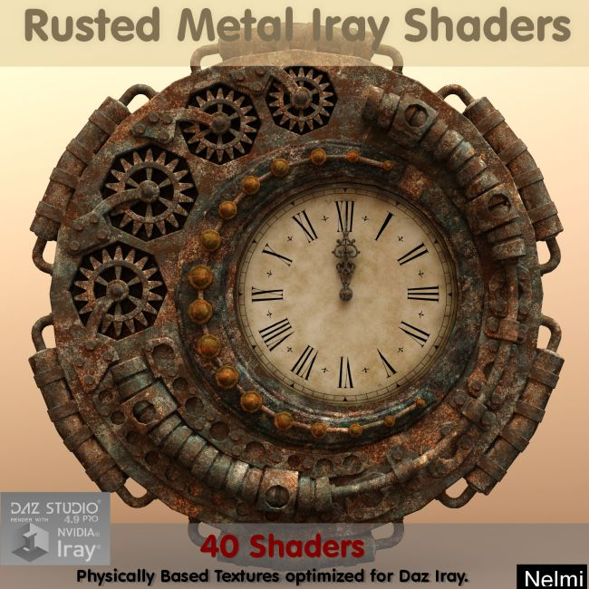 40 Decayed Painted Metal Iray Shaders - Merchant Resource