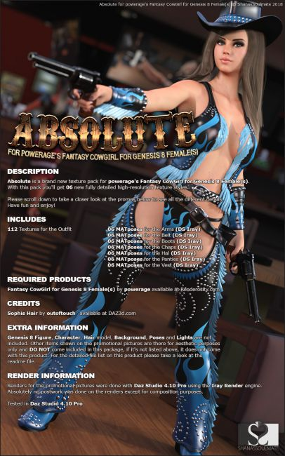 Absolute for Fantasy CowGirl for G8 Females