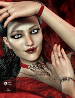 The Blood Baroness Jewelry Set for Genesis 8 Female(s)