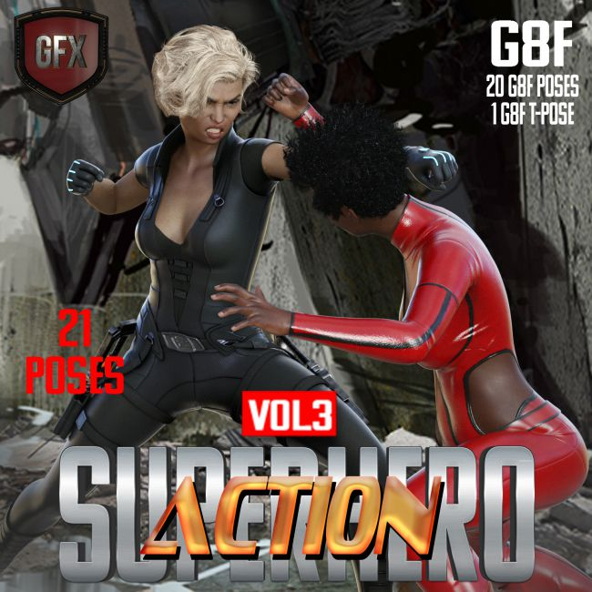 SuperHero Action for G8F Volume 3