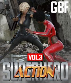 SuperHero Action for G8F Volume 3