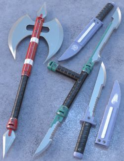 Blade Weapons 3 for Genesis 3 and 8