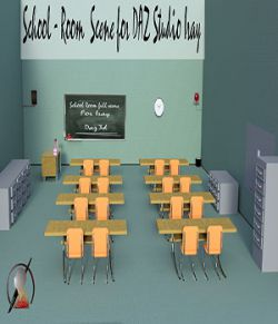 School Room full scene for DAZ Studio Iray