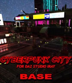 Cyberpunk City BASE for DS Iray