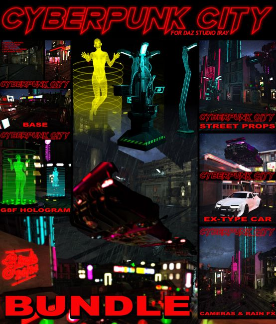 Cyberpunk City BUNDLE for DS Iray