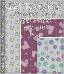 KW Knitting Fun 2- 30 Textures- Merchant Resource