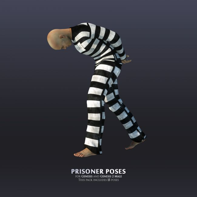 Prisoner poses for Genesis and Genesis 2 Male