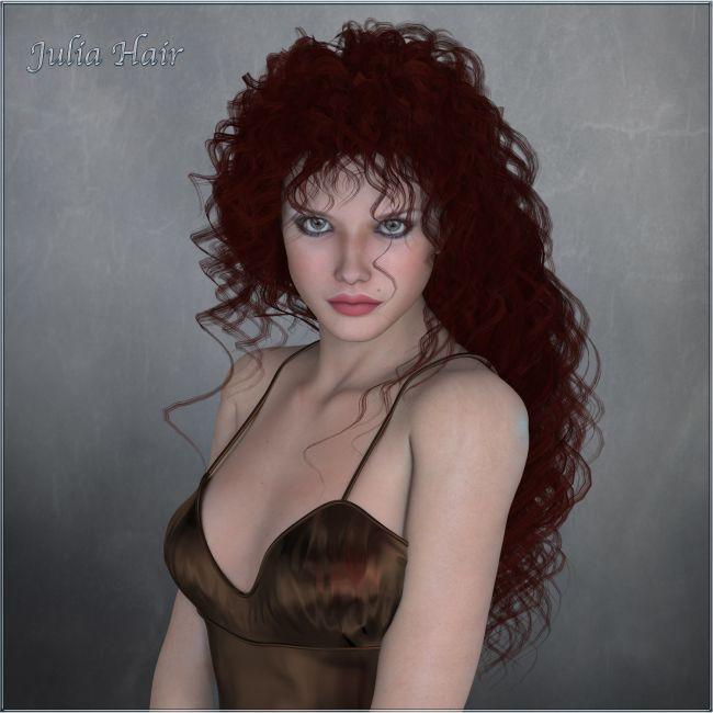Julia Hair V4 and M4 Poser