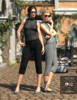 Vintage Summer Clothing Set for Genesis 8 Female(s)