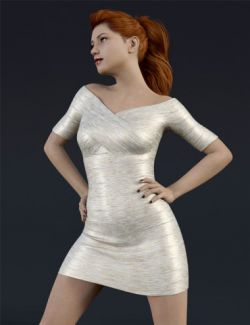 H&C Bandage Dress for Genesis 8 Female(s)