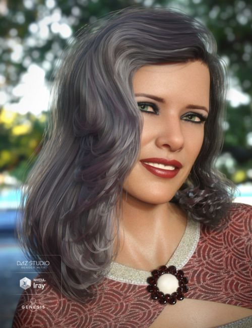 Lauren Hair for Genesis 3 and 8 Female(s)