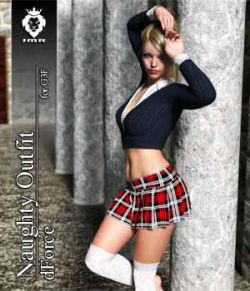 JMR dForce Naughty Outfit for G3F