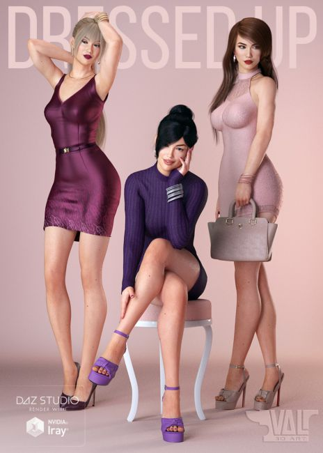 DressUp Collection Outfits and Poses for Genesis 8 Female