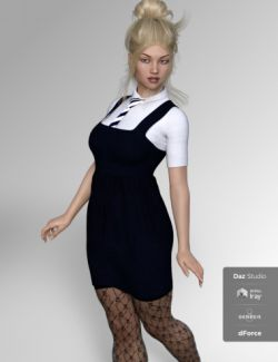FG University Uniforms for Genesis 8 Female(s)