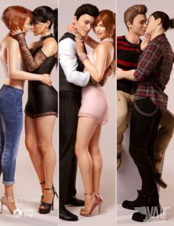 Love is Love Couple Poses for Genesis 8