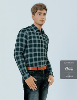 H&C Checkered Shirt Outfit for Genesis 8 Male(s)