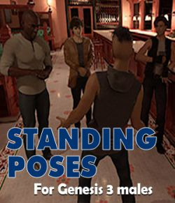 Standing poses for Genesis 3 male